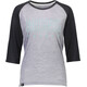 Mons Royale W's Phoenix Raglan MR Box OL 3/4 T-Shirt Black/Grey Marl